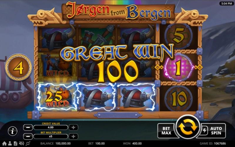 Jorgen from Bergen :: A three of a kind win