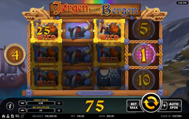 Jorgen from Bergen :: Multiple winning paylines