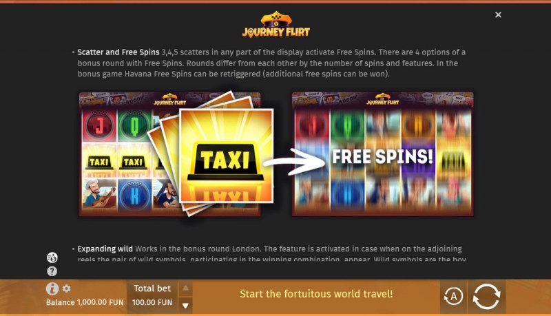 Journey Flirt :: Free Spin Feature Rules