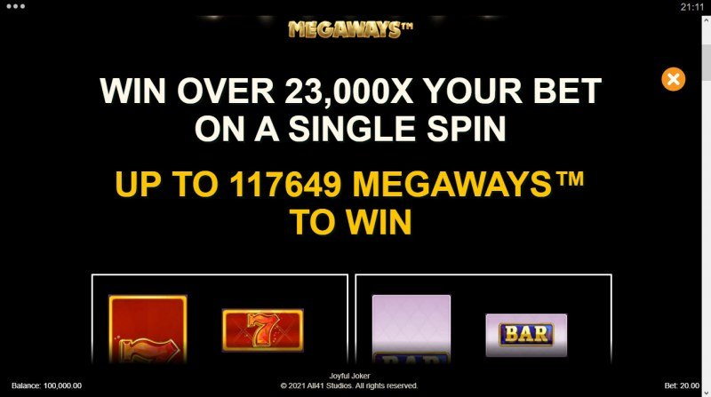 Joyful Joker Megaways :: Win over 23000x your bet