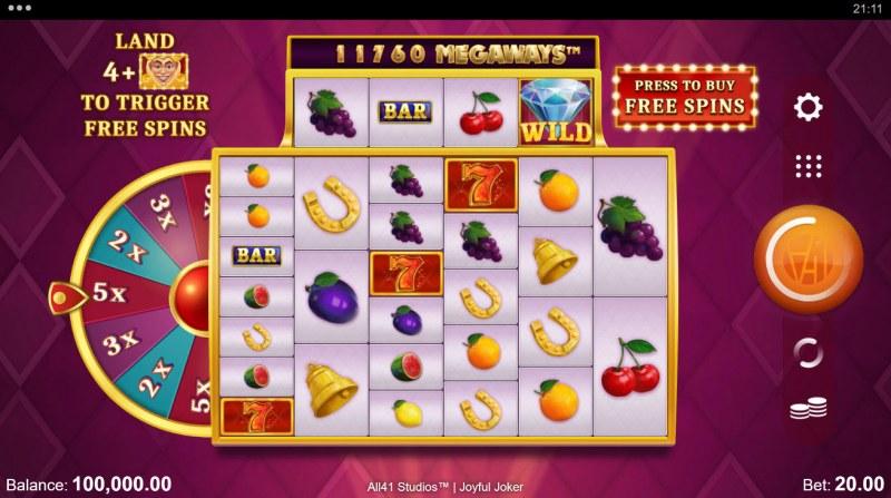 Joyful Joker Megaways :: Base Game Screen