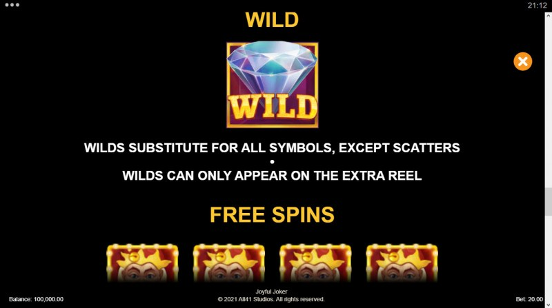 Joyful Joker Megaways :: Wild Symbol Rules