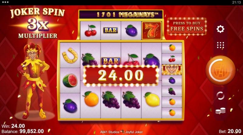 Joyful Joker Megaways :: Feature Win
