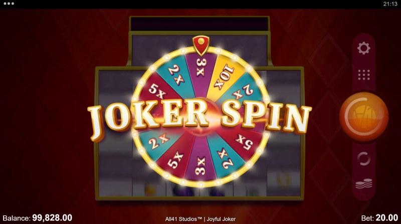 Joyful Joker Megaways :: Joker Spin feature randomly triggers