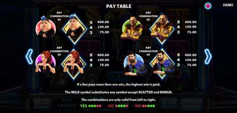 Judges Rule the Show :: Paytable - High Value Symbols