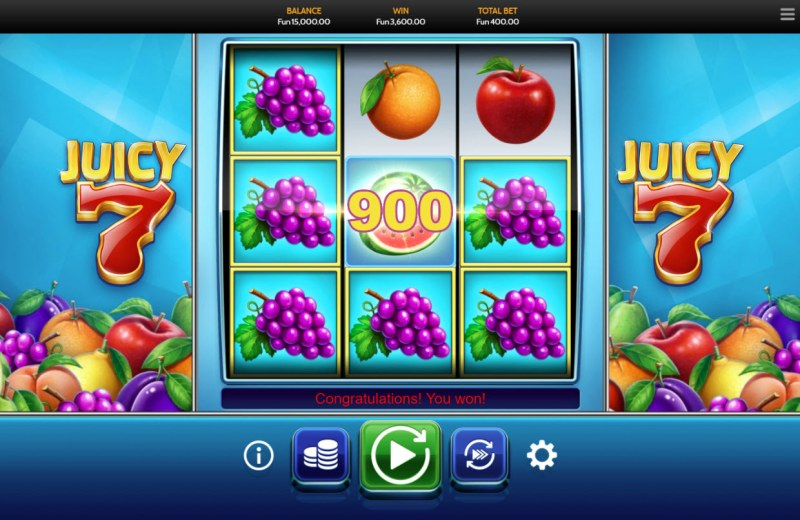 Juicy 7 :: Multiple winning combinations