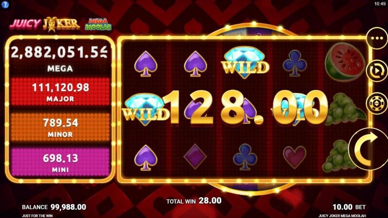 Juicy Joker Mega Moolah :: A four of a kind win