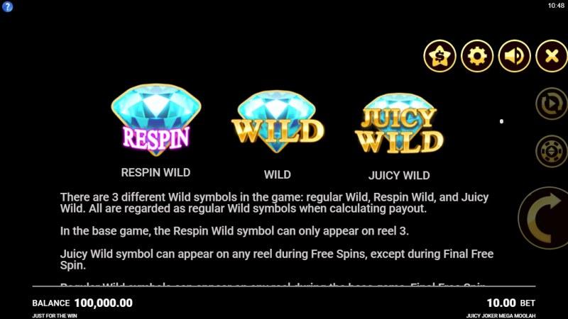 Juicy Joker Mega Moolah :: Wild Symbol Rules