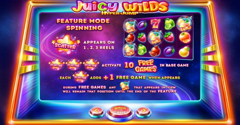 Juicy Wilds :: Free Spins Rules