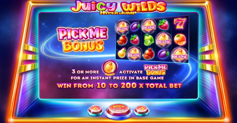 Juicy Wilds :: Pick Me Bonus