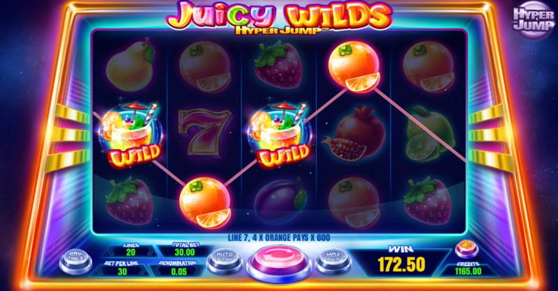 Juicy Wilds :: Multiple winning paylines