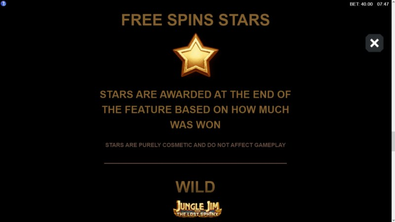 Jungle Jim and the Lost Sphinx :: Free Spins Stars