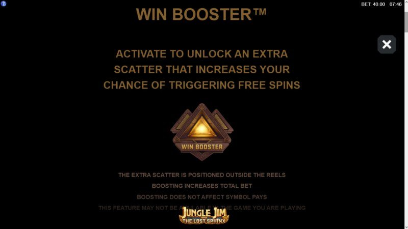 Jungle Jim and the Lost Sphinx :: Win Booster