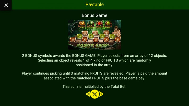 Jungle King :: Bonus Game Rules