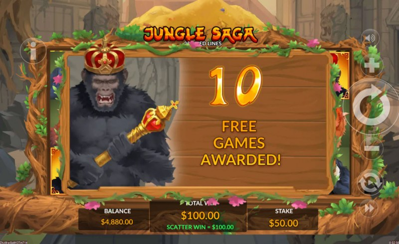 Jungle Saga :: 10 Free Spins Awarded