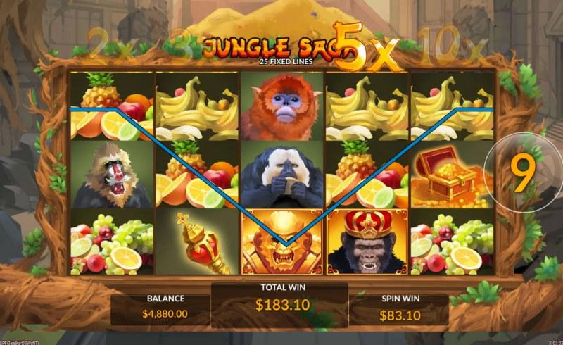Jungle Saga :: Free Spins Game Board