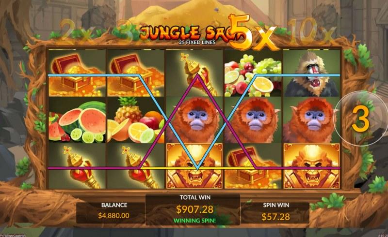 Jungle Saga :: Multiple winning paylines