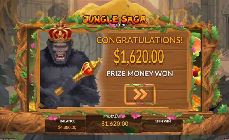 Jungle Saga :: Total free spins payout