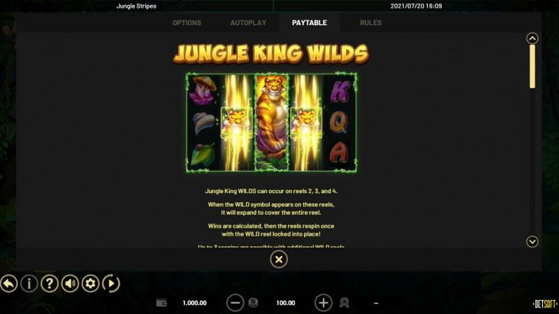 Jungle Stripes :: Wild Symbol Rules