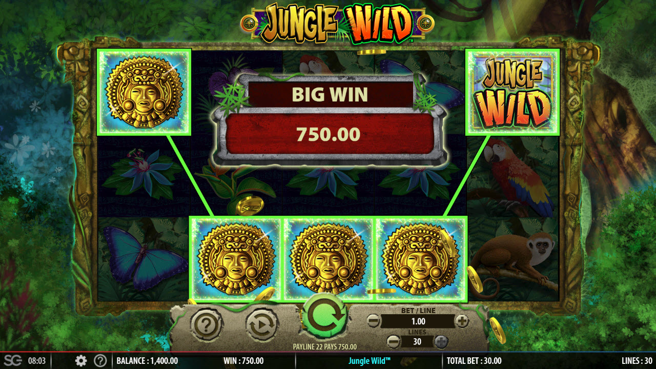 Play slots at Queen Vegas: Queen Vegas featuring the Video Slots Jungle Wild with a maximum payout of $250,000