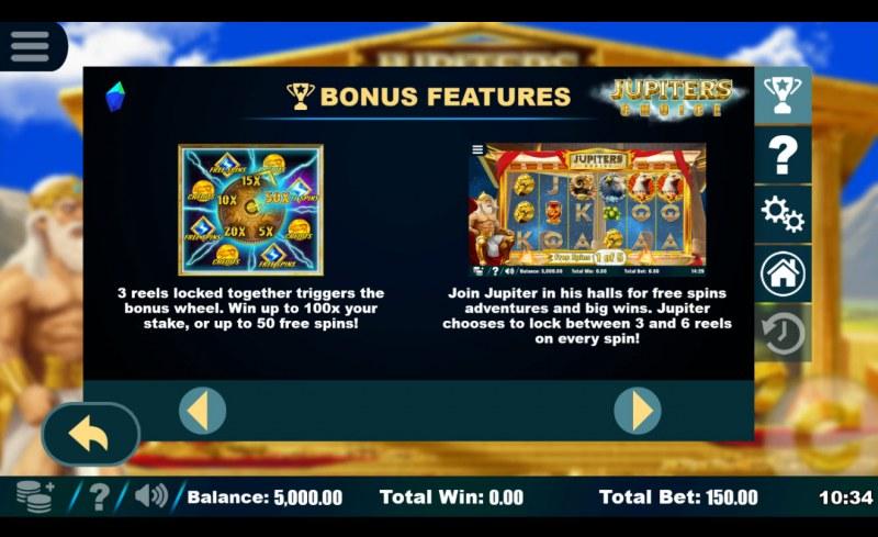 Jupiter's Choice :: Bonus Game Rules