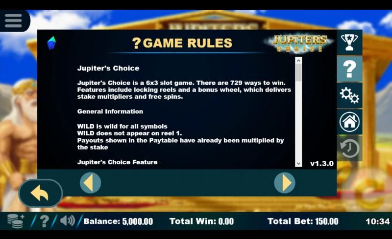Jupiter's Choice :: General Game Rules