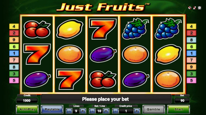 Just Fruits :: Main Game Board