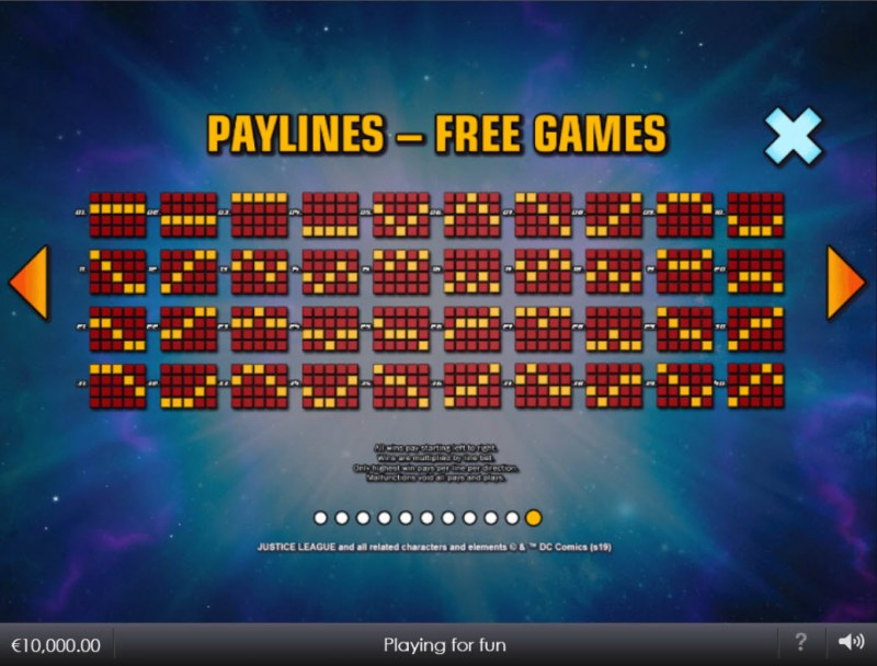 Justice League Comic :: Free Games Paylines