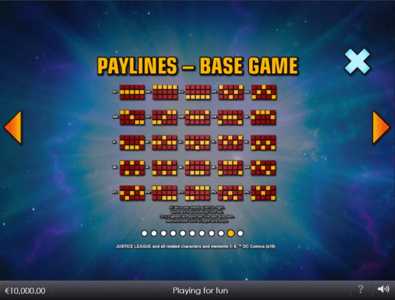 Justice League Comic :: Paylines 1-25