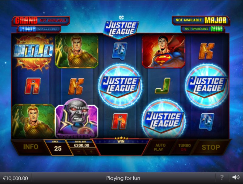 Justice League Comic :: Scatter symbols triggers the free spins bonus feature