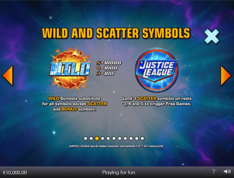Justice League Comic :: Wild and Scatter Rules