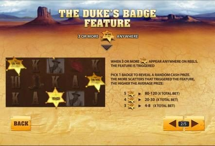 the duke's badge feature 3 or more the duke badge anywhere triggers feature