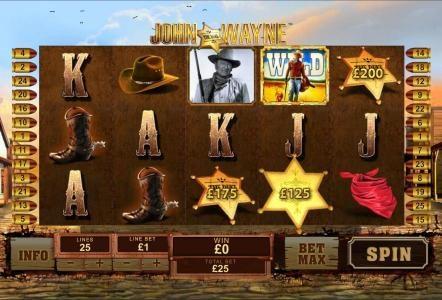 John Wayne :: Badges reveals your prize.