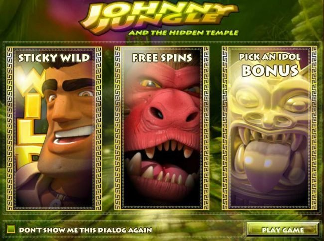 Crazy Luck featuring the Video Slots Johnny Jungle with a maximum payout of $125,000