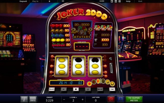 Genting featuring the Video Slots Joker 2000 with a maximum payout of $20,000,000