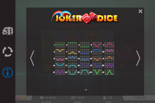 Crypto Wild featuring the Video Slots Joker Dice with a maximum payout of $50,000