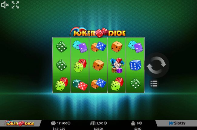 Spintropolis featuring the Video Slots Joker Dice with a maximum payout of $50,000