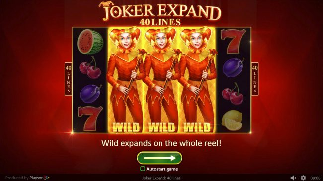 Spintropolis featuring the Video Slots Joker Expand 40 Lines with a maximum payout of $400,000