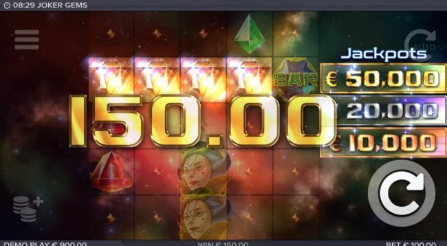 Casino Superlines featuring the Video Slots Joker Gems with a maximum payout of $120,000