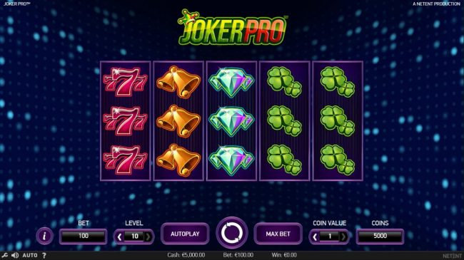 Yoyo featuring the Video Slots Joker Pro with a maximum payout of $1,000,000