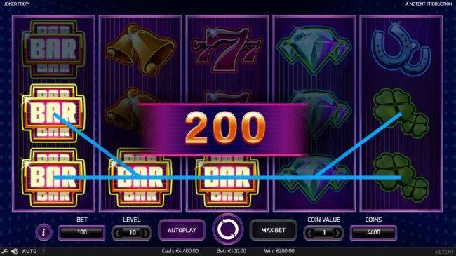 Viggoslots featuring the Video Slots Joker Pro with a maximum payout of $1,000,000