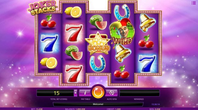 Play slots at Oshi: Oshi featuring the Video Slots Joker Stacks with a maximum payout of $2,250