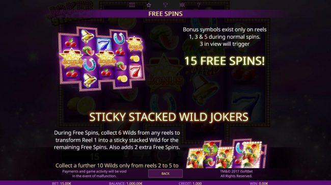 Joker Stacks :: Free Games Bonus Rules