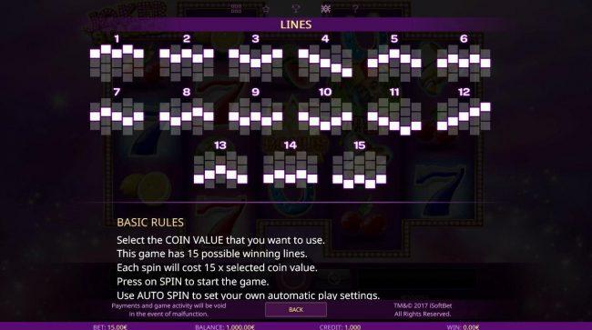 Joker Stacks :: Paylines 1-15