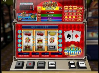 Shadowbet featuring the Video Slots Joker 8000 with a maximum payout of $80,000