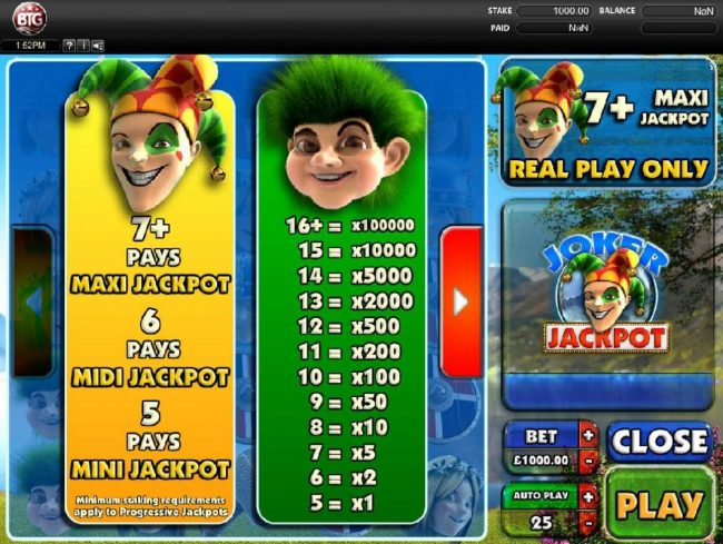 Joker Jackpot :: High value slot game symbols paytable