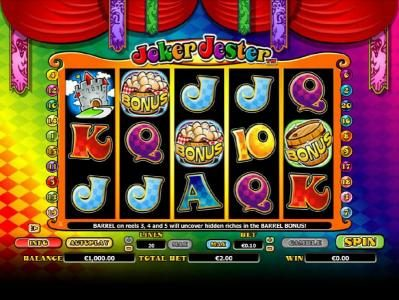 Royal Panda featuring the Video Slots Joker Jester with a maximum payout of $1,000