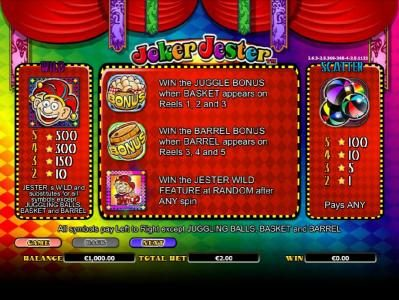 Play slots at Guts: Guts featuring the Video Slots Joker Jester with a maximum payout of $1,000