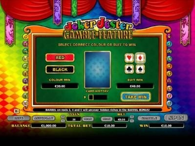 Mr Green featuring the Video Slots Joker Jester with a maximum payout of $1,000