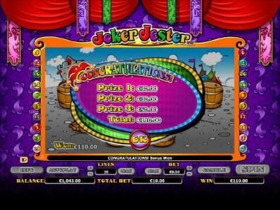 Maxino featuring the Video Slots Joker Jester with a maximum payout of $1,000